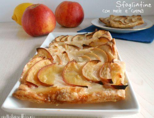 Sfogliatine con mele e crema al limone senza uova e latte