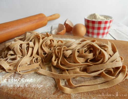 Fettuccine con farina di castagne