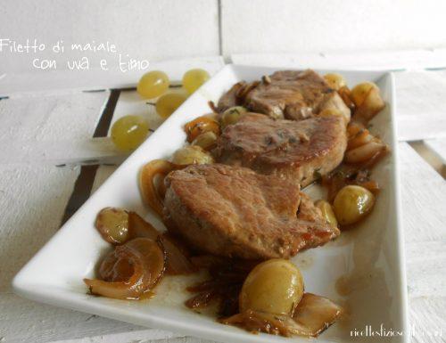 Filetto di maiale con uva e timo