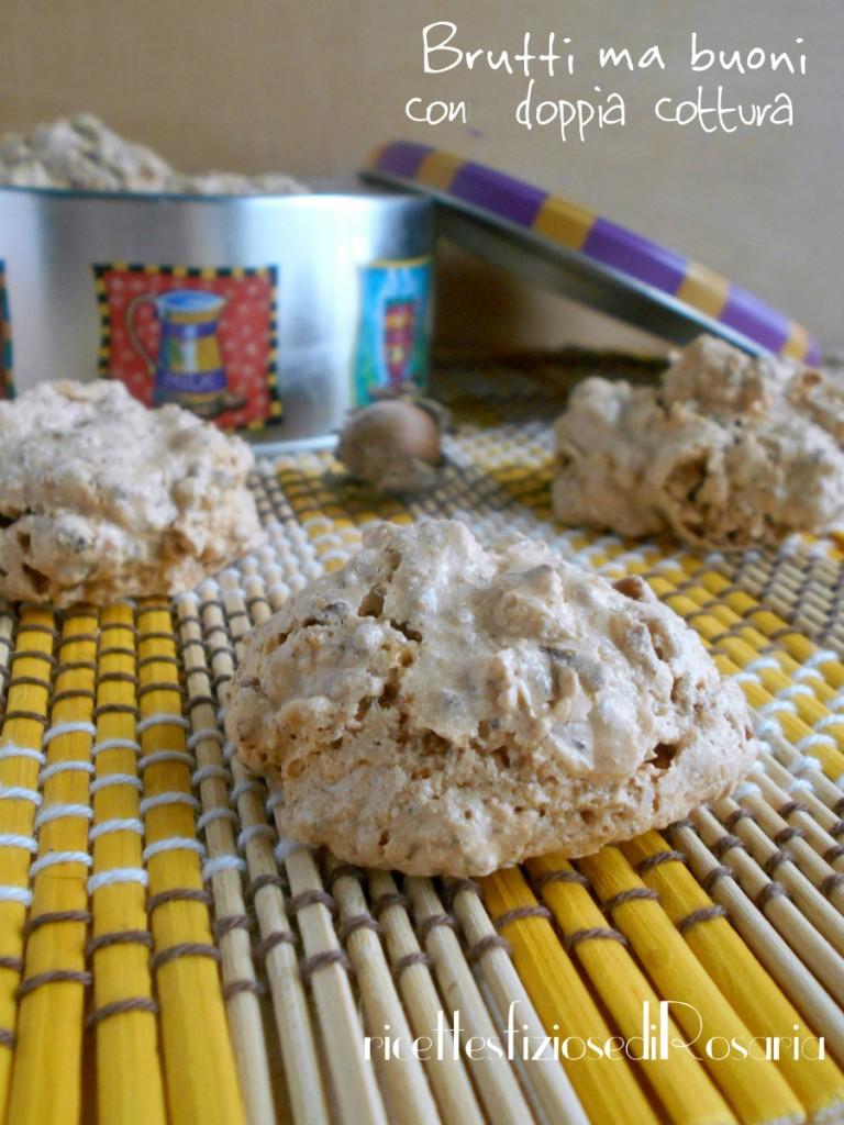 Brutti ma buoni con doppia cottura - ricetta biscotti semplici