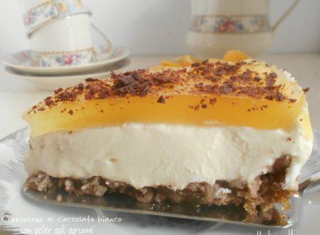 Cheesecake al cioccolato bianco con gelèe agli agrumi
