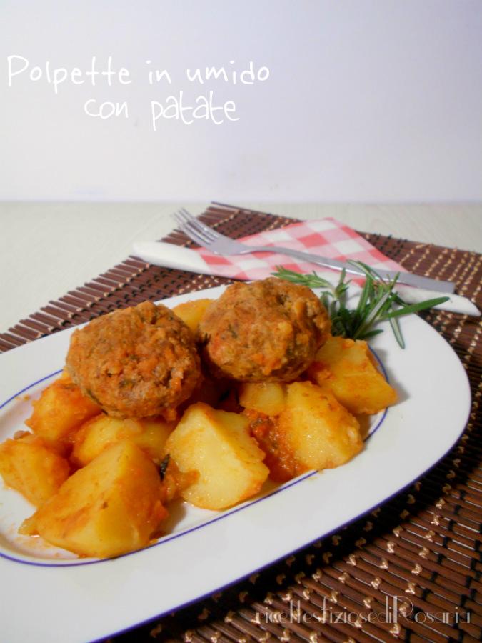 Polpette in umido con patate - ricetta semplice