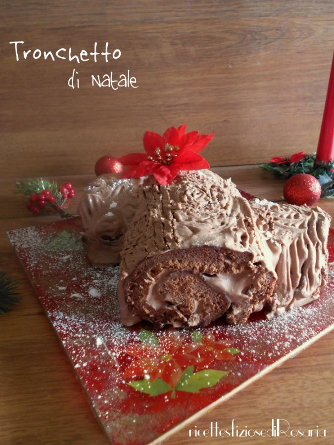 Tronchetto di Natale - ricetta dolce natalizio