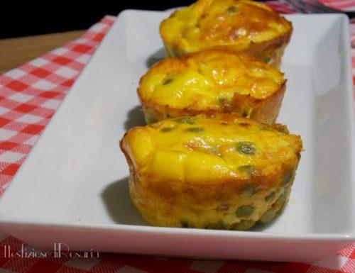 Tortini di uova e piselli – ricetta secondo appetitoso