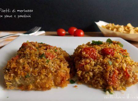 Filetti di merluzzo con panure e pomodorini
