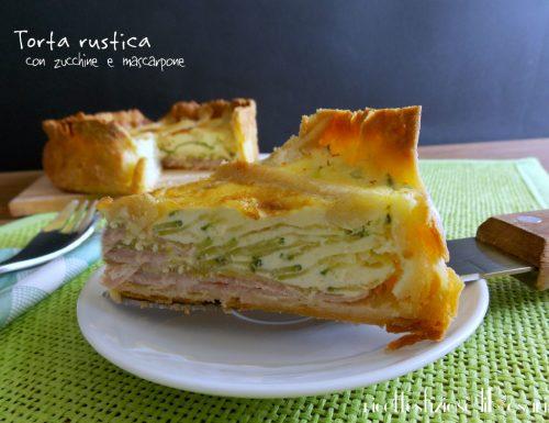 Torta rustica con zucchine e mascarpone