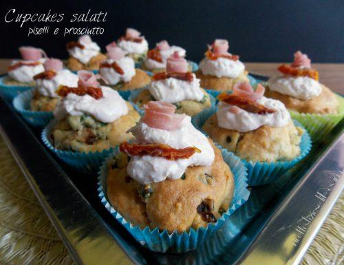 Cupcakes salati piselli e prosciutto