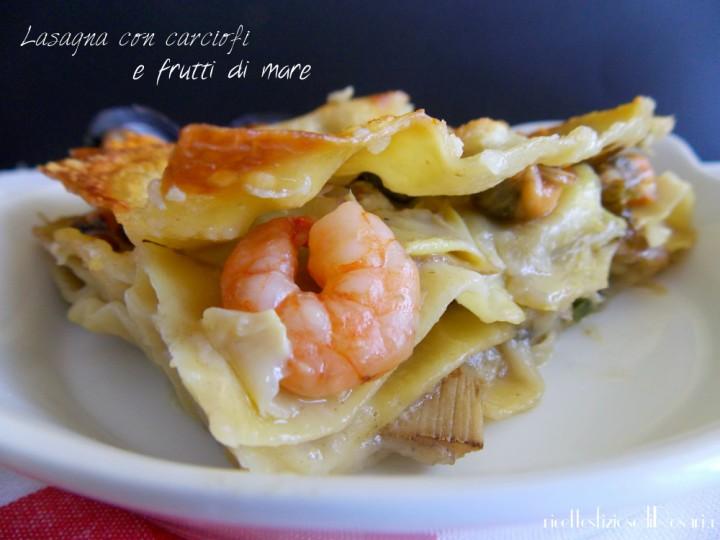 lasagna con carcofi