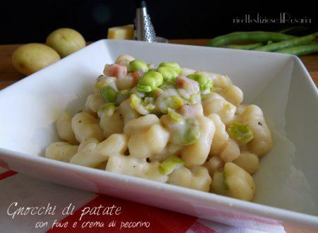 Gnocchi di patate con fave e crema di pecorino