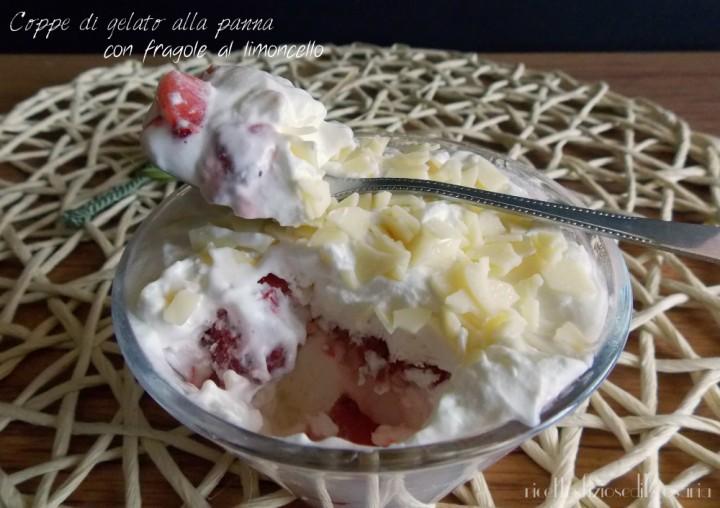 coppe di gelato alla panna