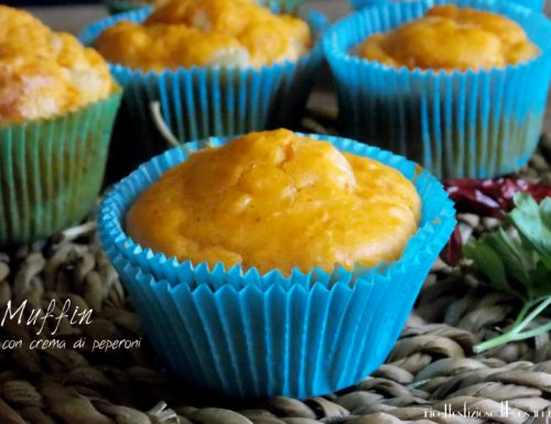 Muffin con crema di peperoni e peperoncino