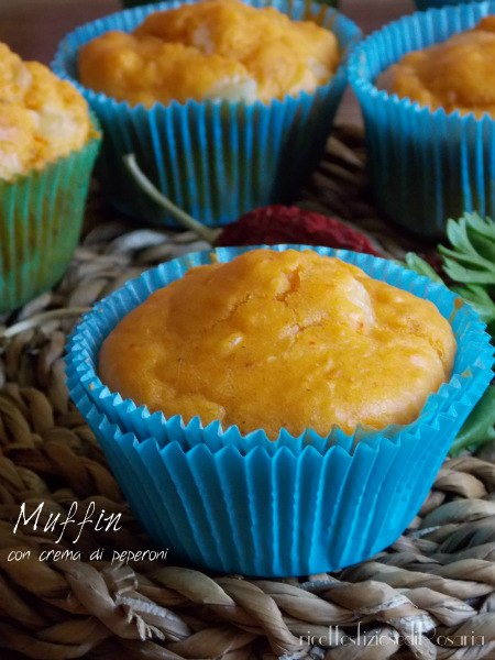 muffin crema di peperoni