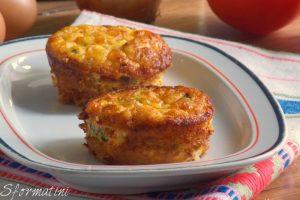 Sformatini con ricotta e zucchine al forno