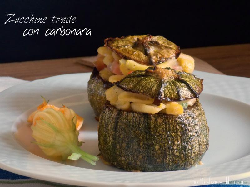 Zucchine tonde con carbonara