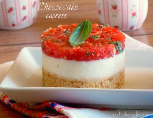 Cheesecake alla caprese