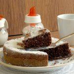 interno torta all'acqua con cacao