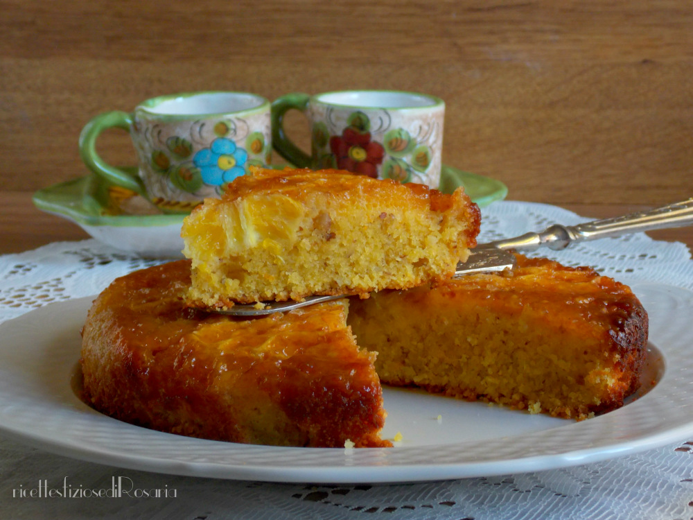 interno torta arancia caramellata