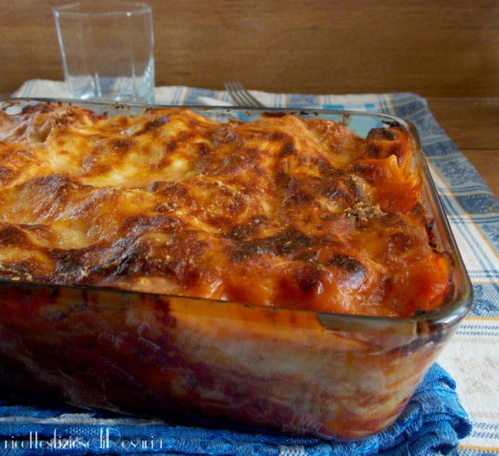 lasagna con polpettine