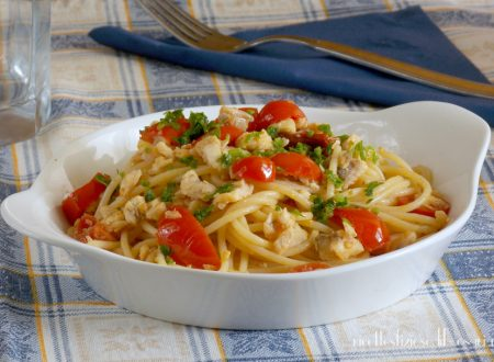 Spaghetti con gallinella e pomodorini