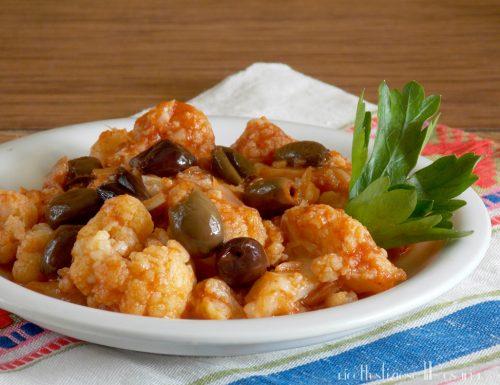 Cavolfiore al pomodoro con olive