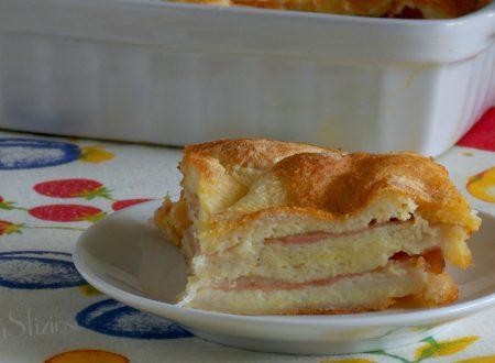 Tortino di pane bianco ripieno
