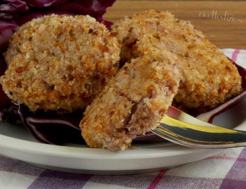 Polpette di cavolo viola con patate e ricotta