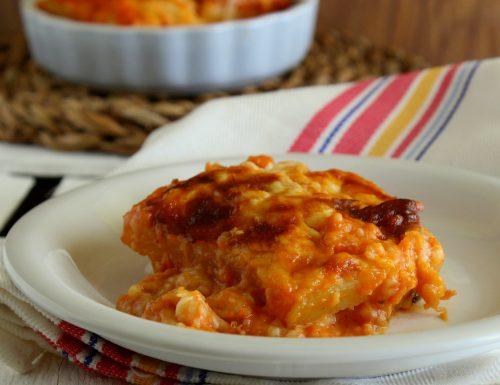 Lasagna di patate e mozzarella