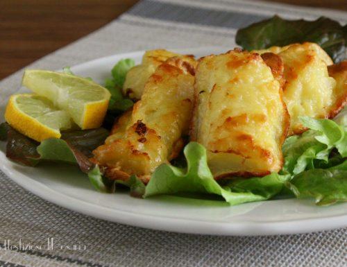 Bastoncini di merluzzo fritti dorati al forno