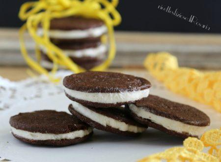 Biscotti al cacao con crema di burro