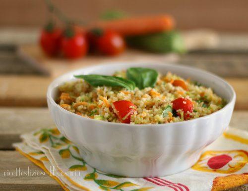 Cous cous tonno e verdure crude
