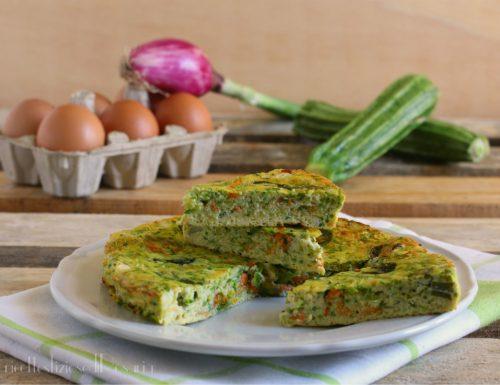 Frittata zucchine e cipollotti al forno