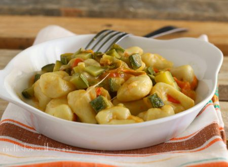 Gnocchi zucchine e mozzarella
