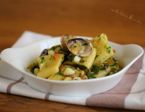 Calamarata pesce e zucchine