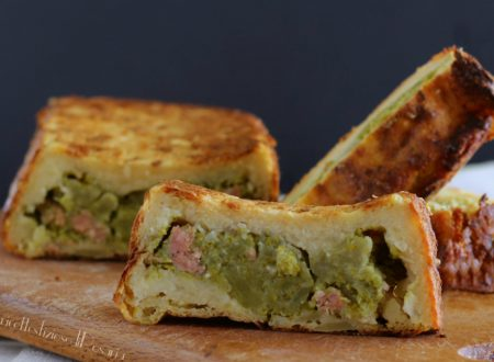 Plumcake di patate ripieno di broccolo e salsiccia