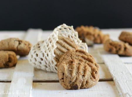 Cookies con castagne e gocce di cioccolato