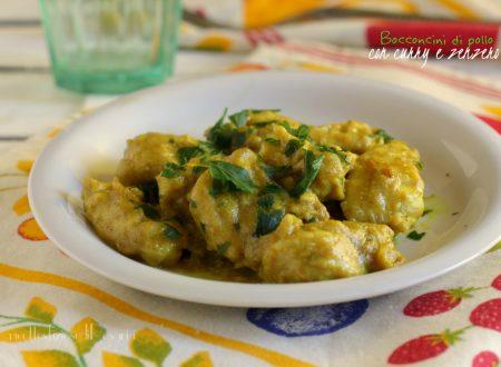 Bocconcini di pollo con curry leggeri