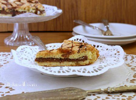Pan di spagna in guscio di pasta frolla