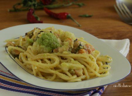 Spaghetti con broccolo e pesce