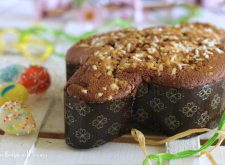 Torta colomba al cacao con nutella