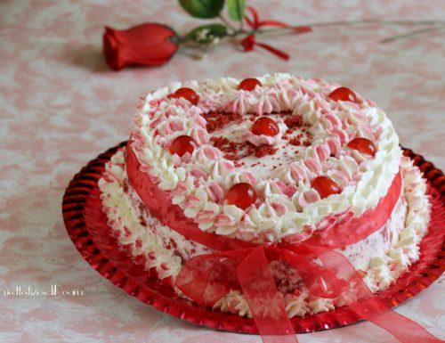 Red velvet cake con mascarpone panna e…