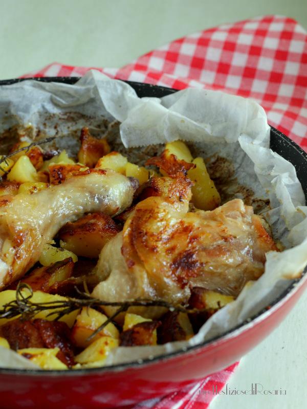 cosci di pollo con patate