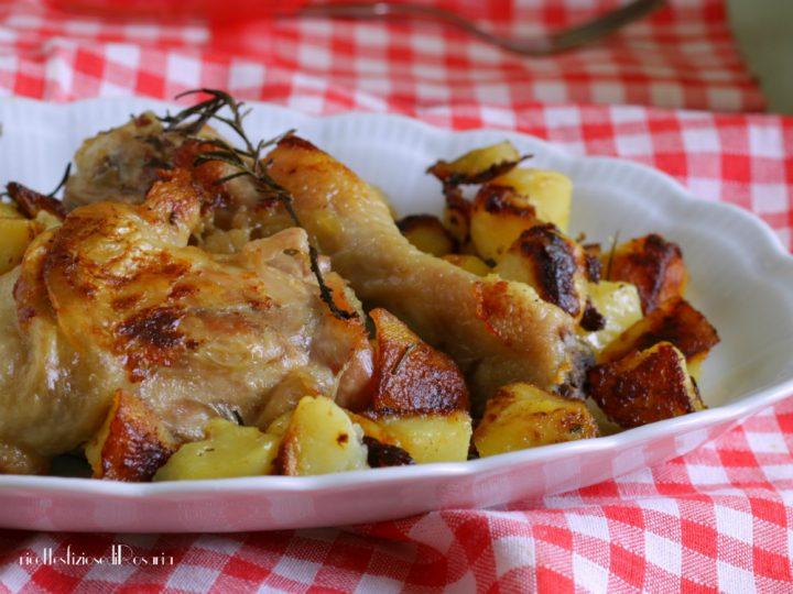 coscio di pollo con patate