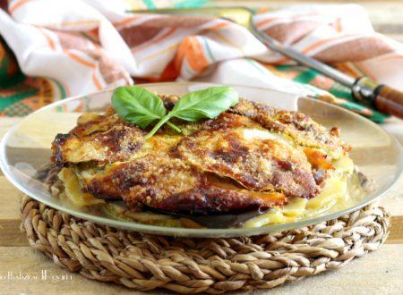 Tortino zucchine melanzane e patate al forno