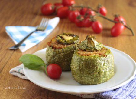 Zucchine tonde con tonno e patate
