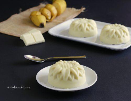 Cupolette gelato alla banana e cioccolato bianco