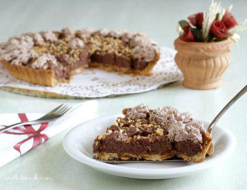 Crostata con ganache montata alla Nutella