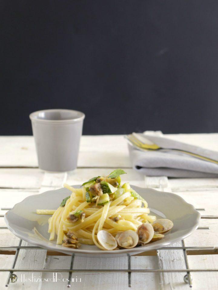 linguine vongole e zucchine