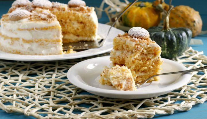 torta zucca crema amaretti