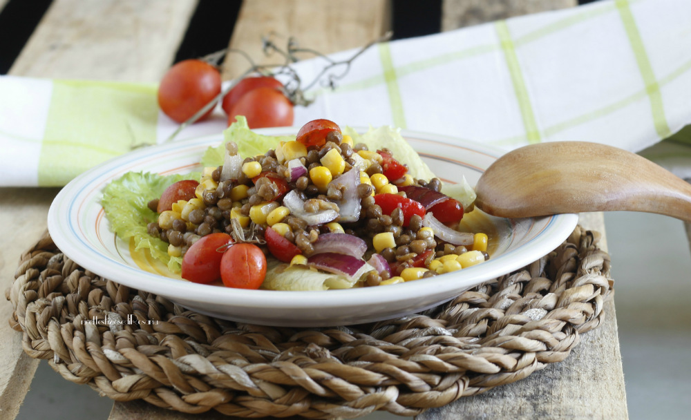insalata lenticchie mais