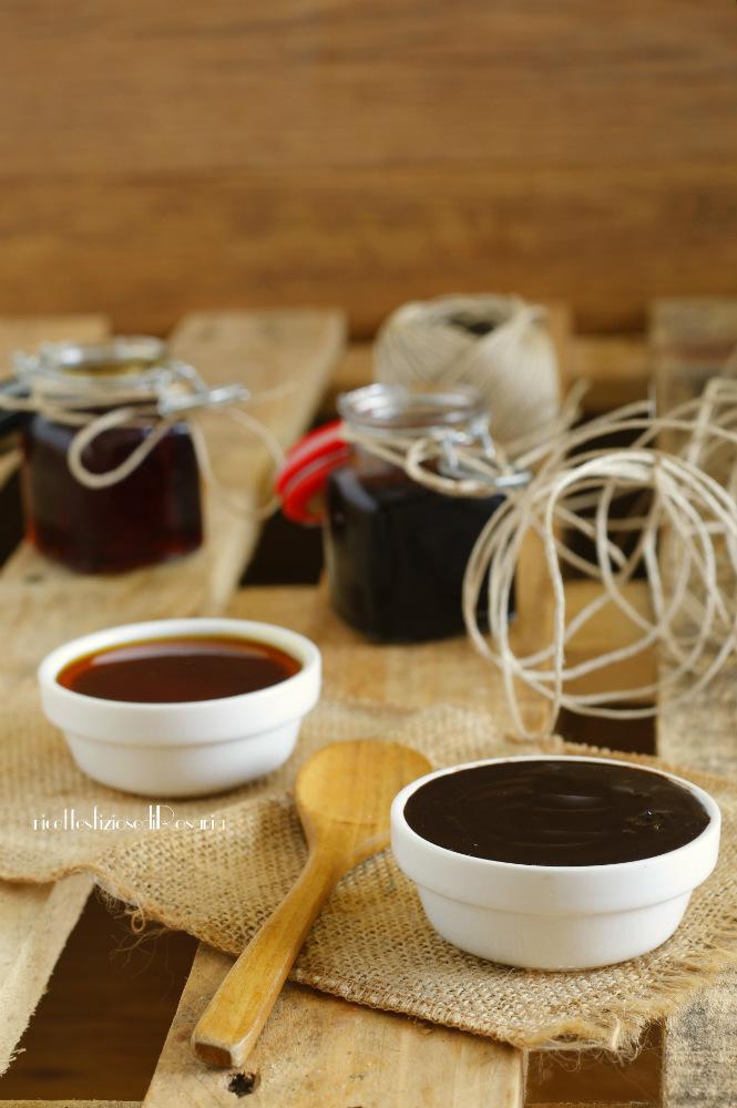 topping caramello e cioccolato